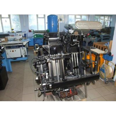 Heidelberg OHT drukowanie sztancowanie LETTERPRESS