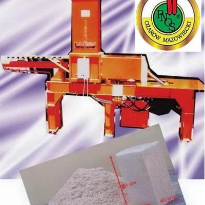 Maszyna do produkcji bloczków  odpadów drzewch.