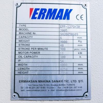 Prasa Automatycznego Wykrawania ERMAK typ: EPP 127
