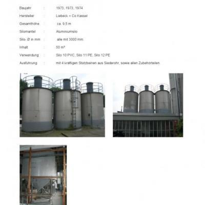 silosy aluminiowe, rozne wielkosci