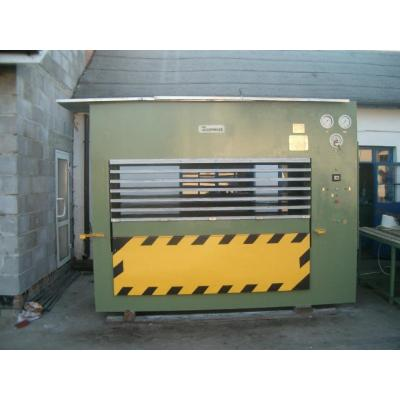 Prasa do produkcji sklejki 6 wsadów 2550 x 1300 mm