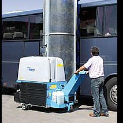 Mobilna myjnia jednoszczotkowa do mycia samochodów