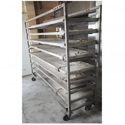 Wózek z paletami do pieca piekarniczego 10 m2