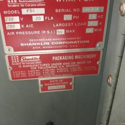 Zgrzewarka Shanklin F5A wraz z tunelem obkurcz.