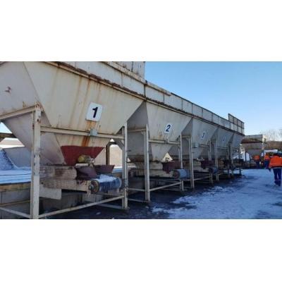 AMMANN 5x cold feed bins / Vordoseur