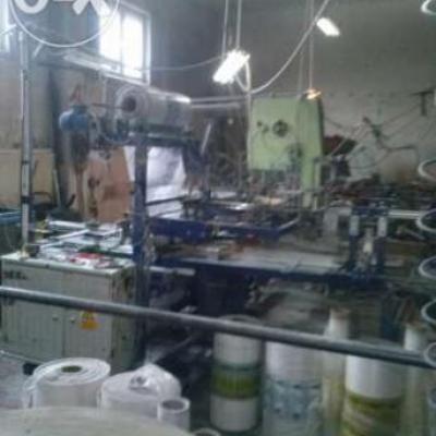 Komplet maszyn do konfekcjonowania papieru toalet.